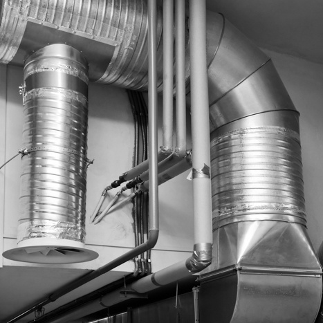 installation of air ducts and services