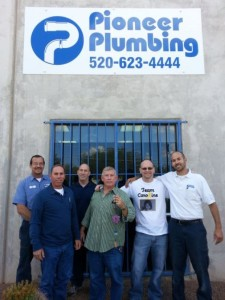 Ben's Bell Award received by Pioneer Plumbing