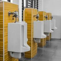 appliance and fixture installation: here urinals in a professional environment
