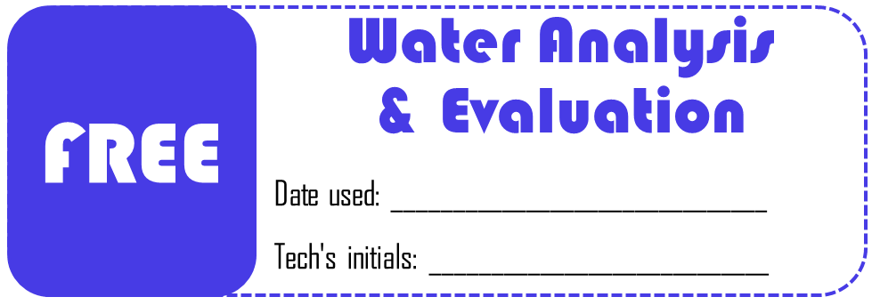 Water analysis coupon