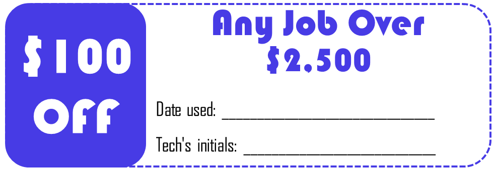 Any Job Over $2500