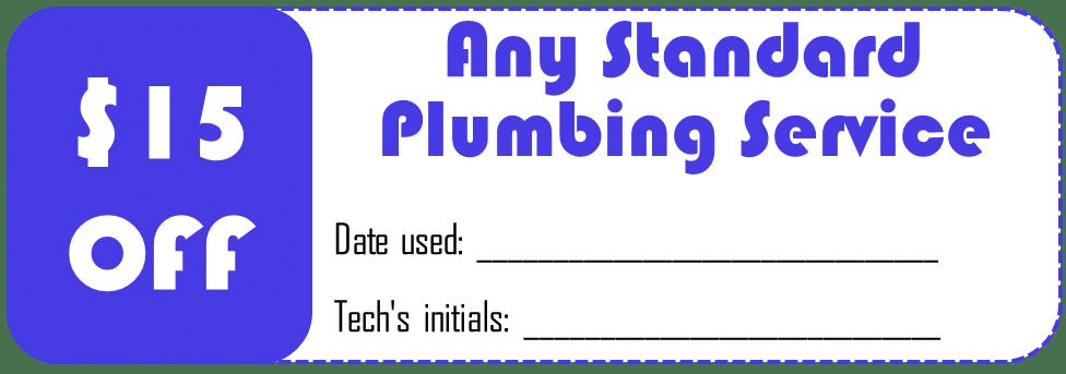 Standard plumbing service